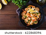 shrimp scampi traditional dish... | Shutterstock . vector #622868396