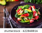healthy salad plate with... | Shutterstock . vector #622868816