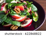 healthy salad plate with apple  ... | Shutterstock . vector #622868822