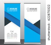 blue roll up business brochure... | Shutterstock .eps vector #622870322