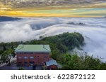 amazing mist and clouds moving...   Shutterstock . vector #622872122