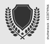 vector shield insignia with... | Shutterstock .eps vector #622874966