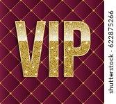 vip golden letters with glitter ...   Shutterstock .eps vector #622875266