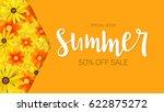 summer sale  selling banner.... | Shutterstock .eps vector #622875272
