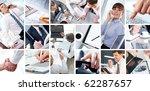 collage of four businesswomen... | Shutterstock . vector #62287657