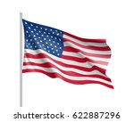 united state of america flag.... | Shutterstock . vector #622887296