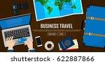 business trip. hotel... | Shutterstock .eps vector #622887866
