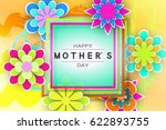 mother s day greeting card with ... | Shutterstock .eps vector #622893755
