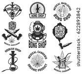 hookah shop. bong shop.... | Shutterstock .eps vector #622893842