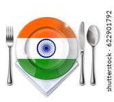 a plate with an indian flag .... | Shutterstock .eps vector #622901792
