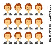 set of avatars with female... | Shutterstock .eps vector #622905266