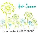 hello summer vector card with... | Shutterstock .eps vector #622908686