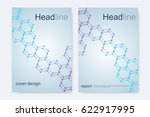 scientific brochure design... | Shutterstock .eps vector #622917995