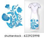 embroidery colorful trend...   Shutterstock .eps vector #622923998