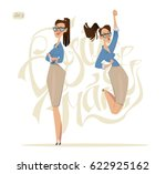 business woman characters.... | Shutterstock .eps vector #622925162