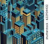 cityscape of night new york.... | Shutterstock .eps vector #622934432