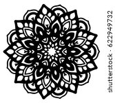 mandalas for coloring book.... | Shutterstock .eps vector #622949732