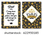 father happy birthday card set  ... | Shutterstock .eps vector #622950185