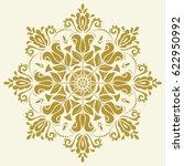 oriental vector round golden... | Shutterstock .eps vector #622950992