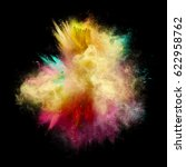 explosion of yellow  red and... | Shutterstock . vector #622958762