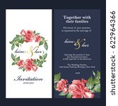 wedding invitation card | Shutterstock .eps vector #622964366