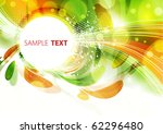 Abstract Color Card. Vector...