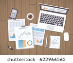 work with documents. workflow... | Shutterstock . vector #622966562