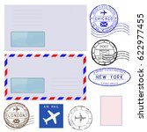 collection of postal elements... | Shutterstock .eps vector #622977455