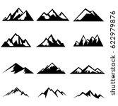 set of mountains silhouettes.... | Shutterstock .eps vector #622979876