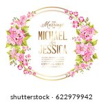wedding invitation card with... | Shutterstock .eps vector #622979942