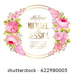 wedding invitation card with... | Shutterstock .eps vector #622980005
