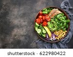 lunch bowl with vegetables... | Shutterstock . vector #622980422