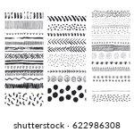 set of vector seamless hand... | Shutterstock .eps vector #622986308