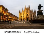 milan  italy. cathedral of... | Shutterstock . vector #622986662