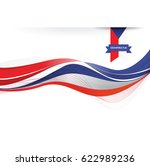 czech republic flag background | Shutterstock .eps vector #622989236