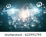 creative digital connections...   Shutterstock . vector #622991795