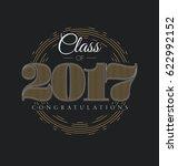 graduation label   class of... | Shutterstock .eps vector #622992152
