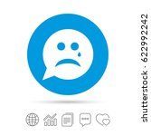 sad face with tear sign icon.... | Shutterstock .eps vector #622992242