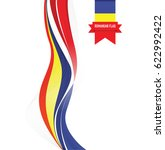 a romanian abstract flag... | Shutterstock .eps vector #622992422