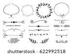 set of decorative elements.... | Shutterstock .eps vector #622992518