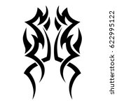 tattoo sketch tribal vector... | Shutterstock .eps vector #622995122