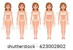 female body figures. woman... | Shutterstock .eps vector #623002802