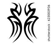 tattoo tribal vector designs.... | Shutterstock .eps vector #623003936