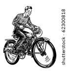 Motorized Bicycle   Retro...
