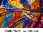 abstract watercolor texture.... | Shutterstock . vector #623008568