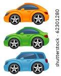 funny car | Shutterstock .eps vector #62301280