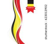 belgium flag background | Shutterstock .eps vector #623013902