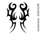 tribal symmetric pattern... | Shutterstock .eps vector #623014298