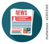 newspaper icon | Shutterstock .eps vector #623015162