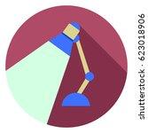 desk light lamp icon | Shutterstock .eps vector #623018906